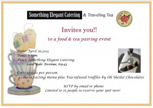 Tea/Food Pairing event details